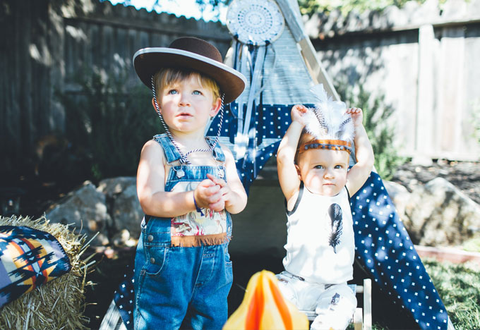 Whiskey & Lace by Erika Altes - Austin's Cowboys and Indians Themed 1st Birthday Party