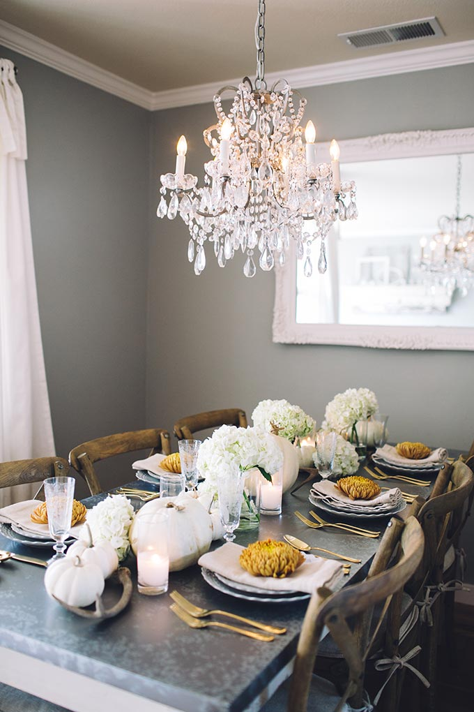 A Rustic-Chic Thanksgiving Tablescape - Whiskey & Lace by Erika Altes