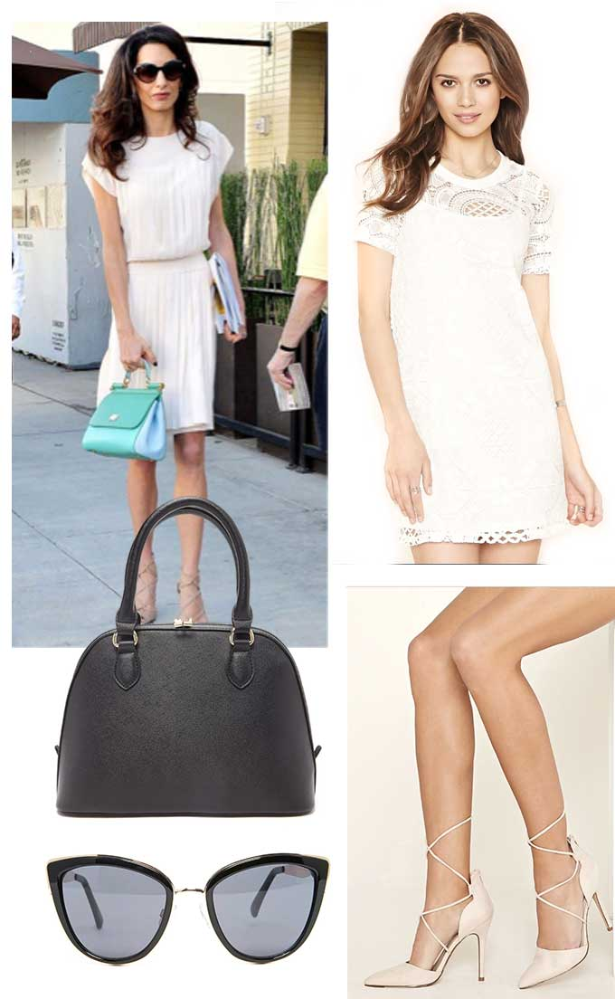 Look for Less: Amal Clooney - Whiskey and Lace by Erika Altes