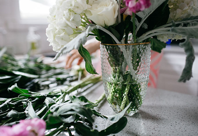 diy flower arrangement