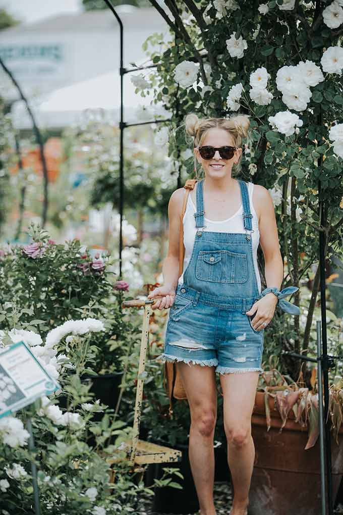 overalls with white tank