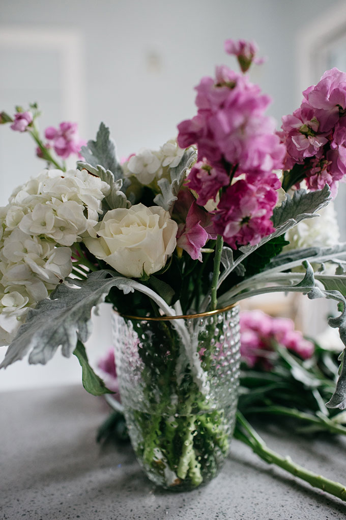 diy pretty flower arrangement