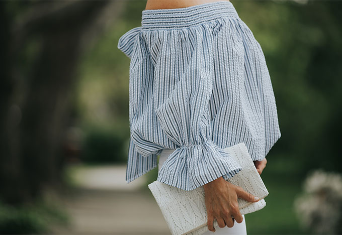white summer clutch from revolve