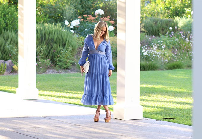 Blue Carolina K Dress