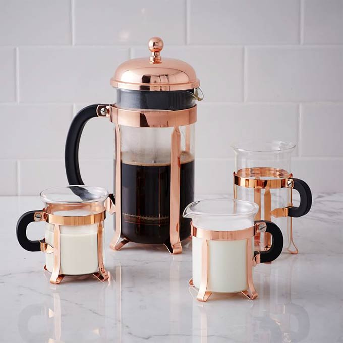 Bodum Copper Coffee Collection from West Elm