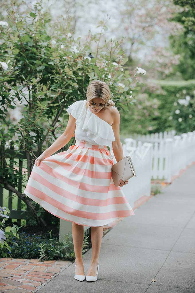 Chic Wish striped skirt