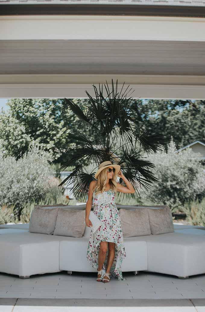 WAYF Floral Maxi Dress