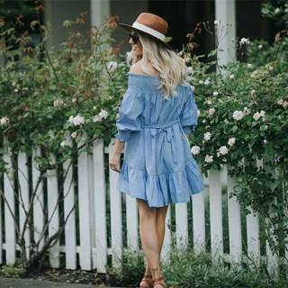 Girly blue dress from shopbop.com