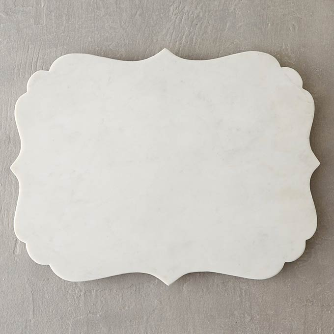 Scalloped Marble Serving Board from Terrain