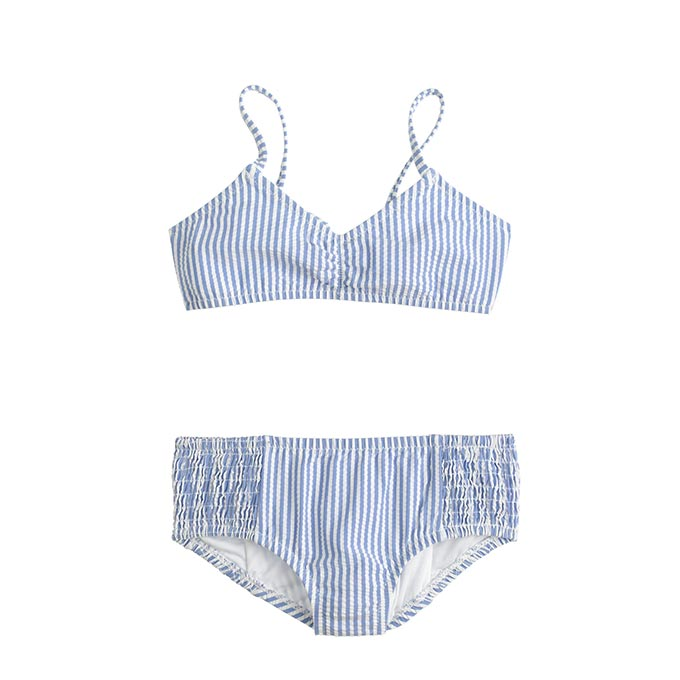 Seersucker Bikini Set by JCrew