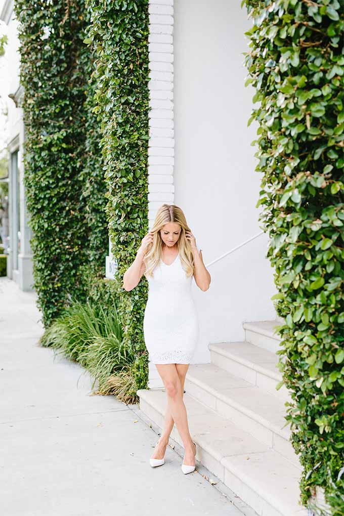 White Nightcap Dress from The Stylist LA