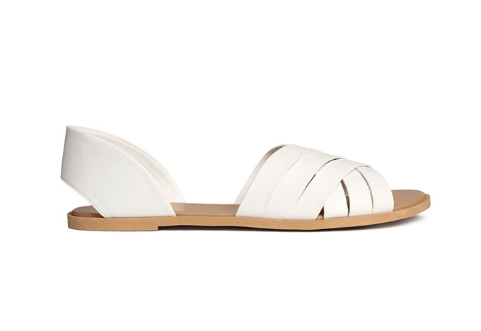 white H&M sandals