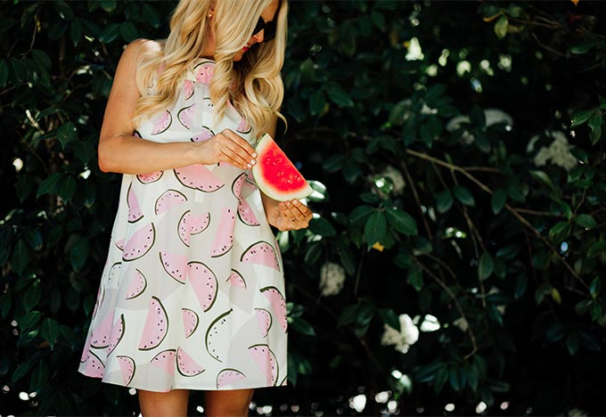 Anthropologie Watermelon Dress