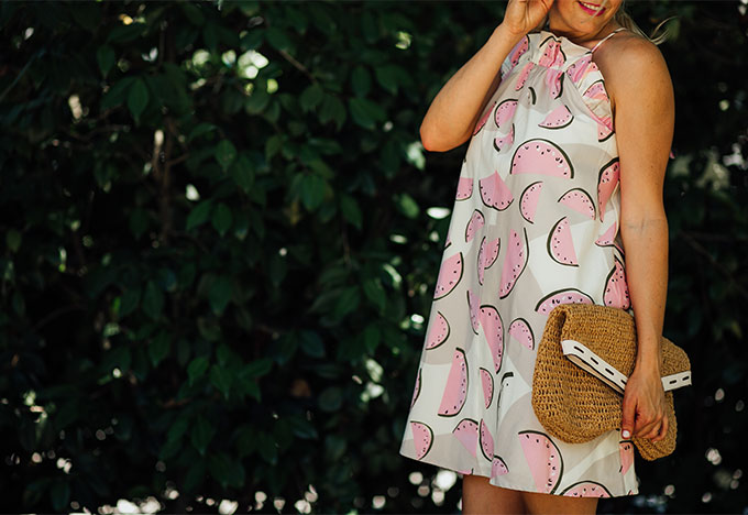 Watermelon Print Dress from Anthropologie