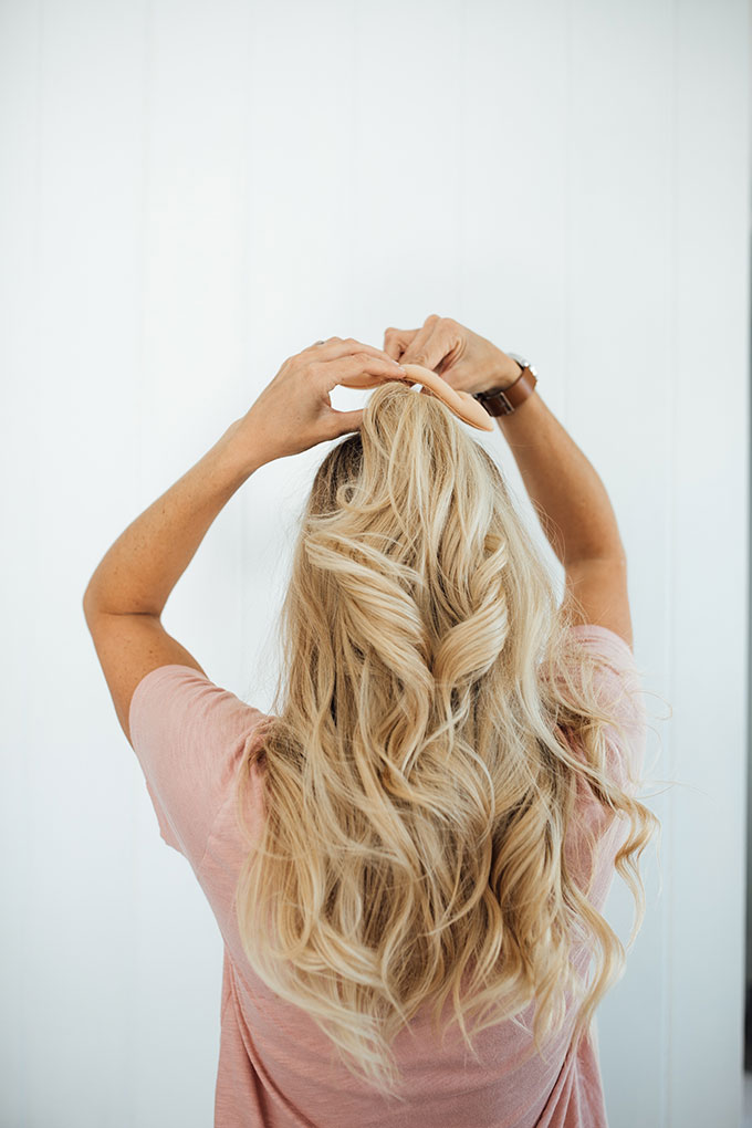 beach wave half updo