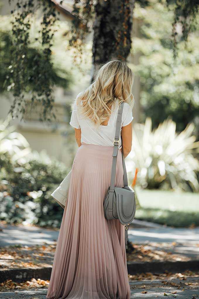 ASOS Blush Maxi Skirt