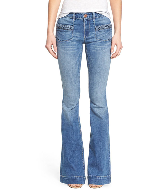 Braided Pocket Flare Jean at Nordstrom