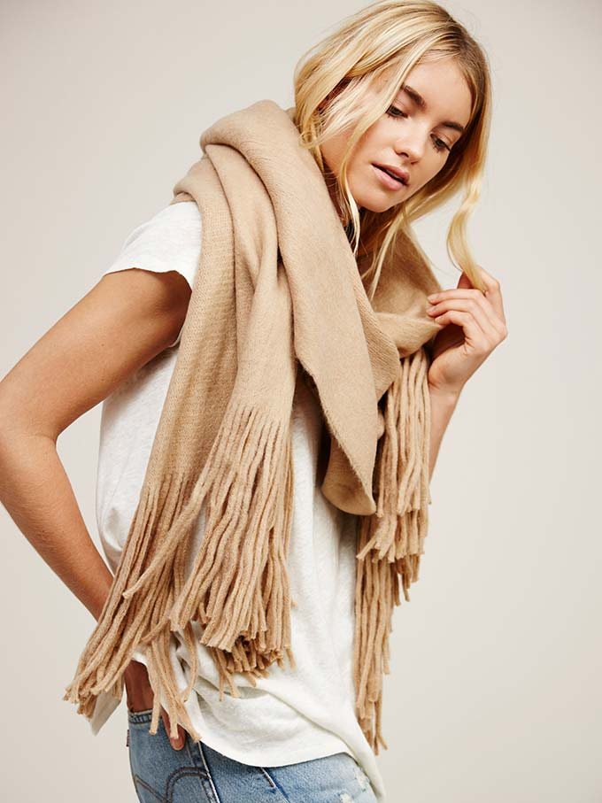 Free People Fringe Scarf