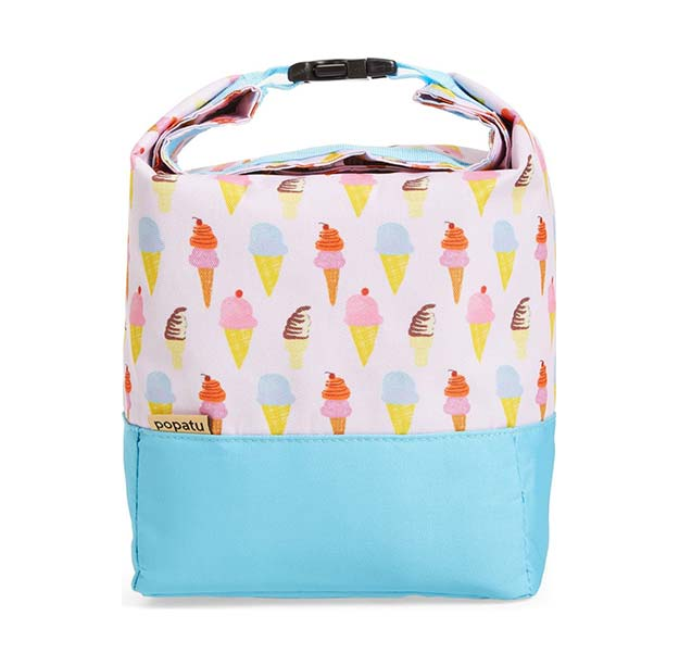 Popatu Ice Cream Roll Top Lunch Bag