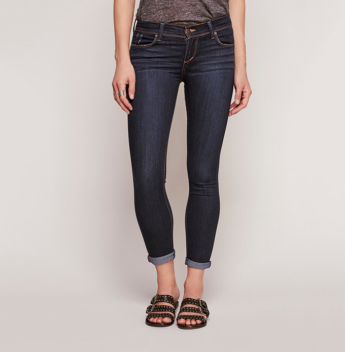 Rolled Cropped Skinny Jeans by Free People