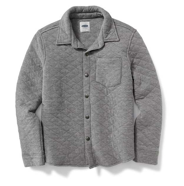Quilted Shirt Jacket for Boys