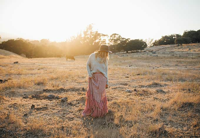 Free People at Sunset
