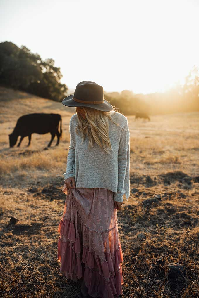 Whiskey & Lace Blog - Free People at Sunset
