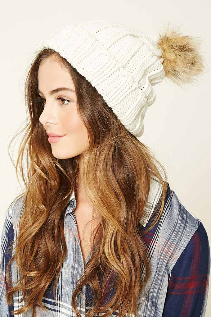 Ribbed Knit Beanie from Forever 21