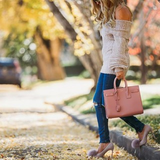 Whiskey & Lace Blog, erika altes wearing pink YSL bag