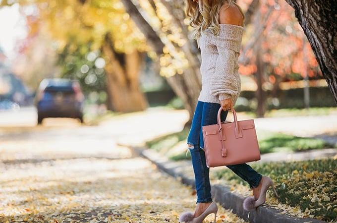 Whiskey & Lace Blog, erika altes wearing pink YSL bag
