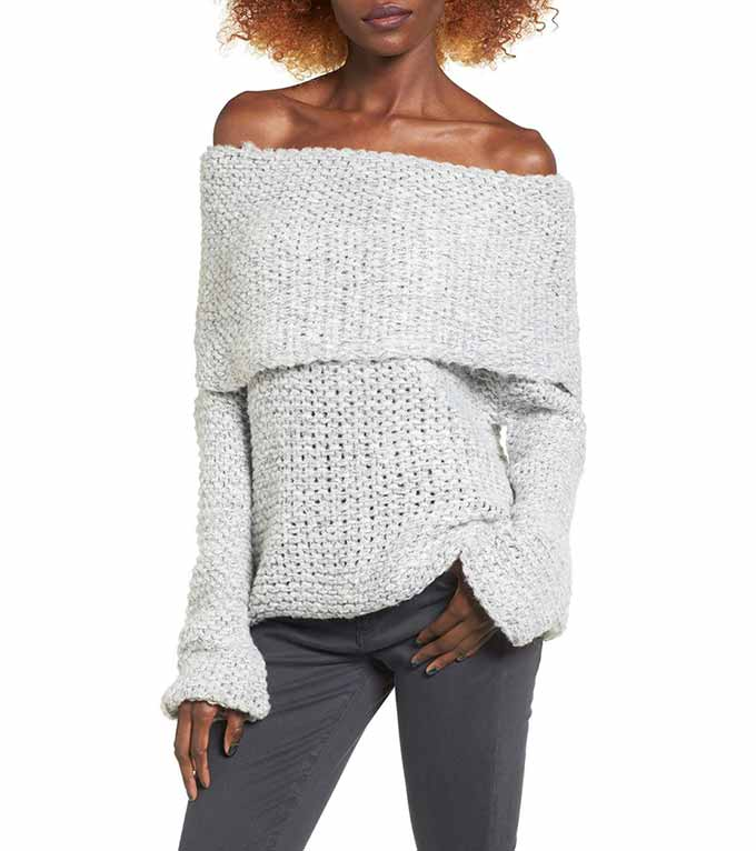Off the shoulder sweater from Nordstrom
