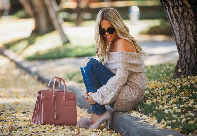 Whiskey & Lace Blog - Puff Sleeves and Pom Pom Perfection