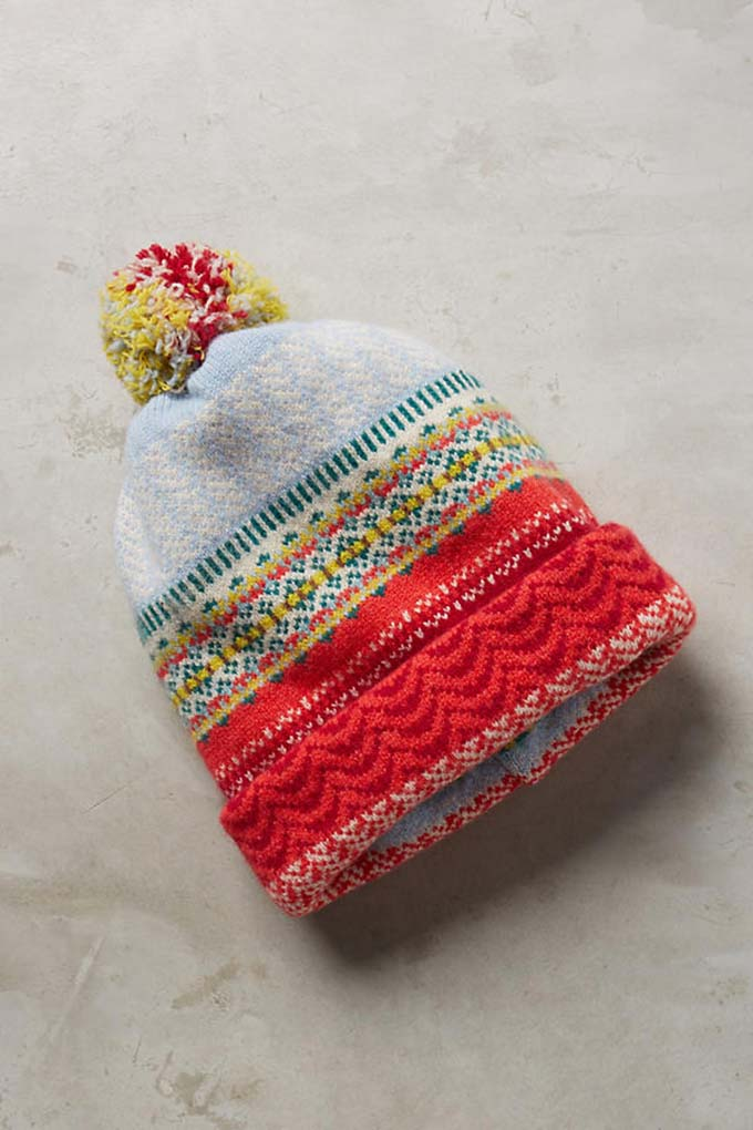 Fairisle Folk Wool Beanie from Anthropologie
