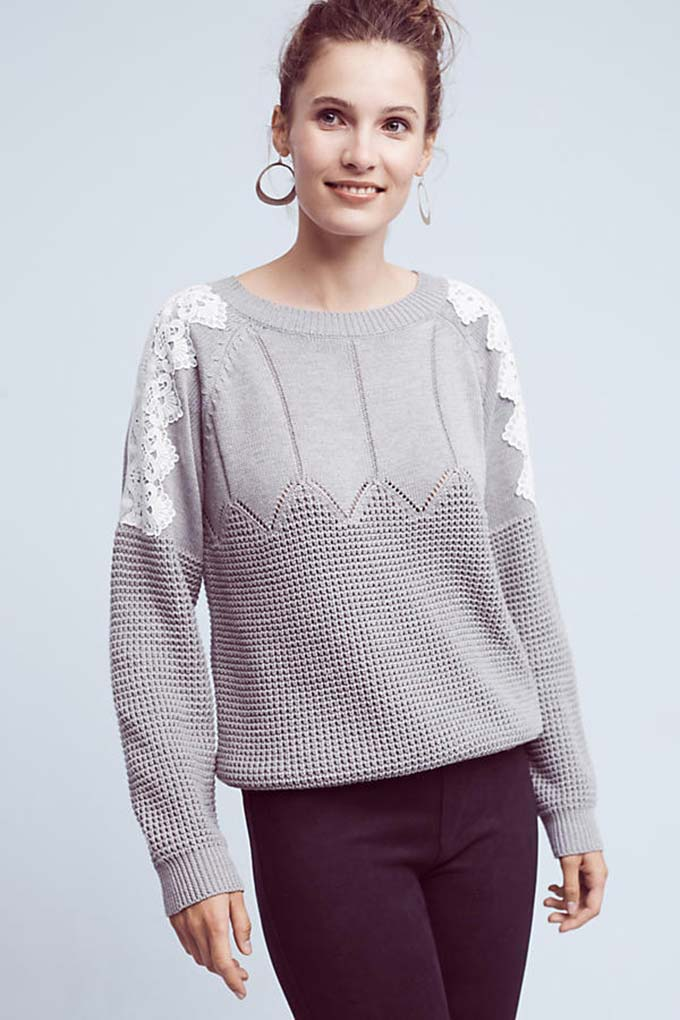 Moth Laced Darmon Pullover from Anthropologie