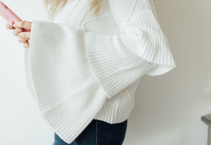 edless rose ruffle sweater
