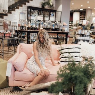 Whiskey and Lace blogger at birthday at Anthropologie