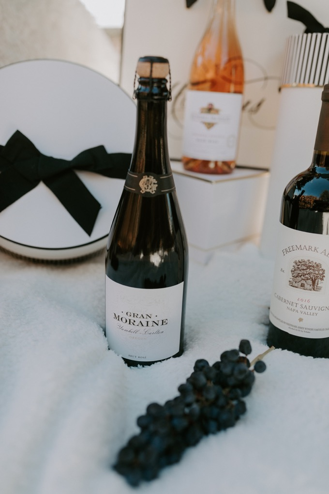 Top 6 Best Wines to Gift this Holiday Season featured by top US lifestyle blog, Whiskey and Lace: Gran Moraine Brut Rose