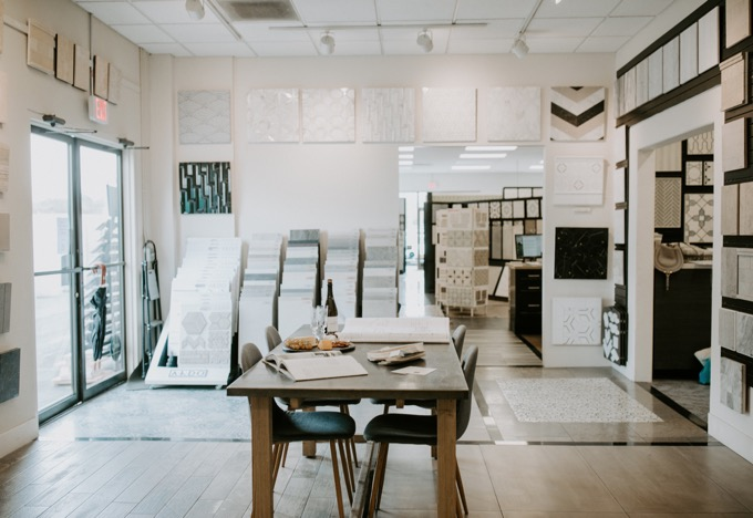 Ceramic Tile Center by popular SoCal life and style blog, Whiskey and Lace: image of the Ceramic Tile Center showroom.