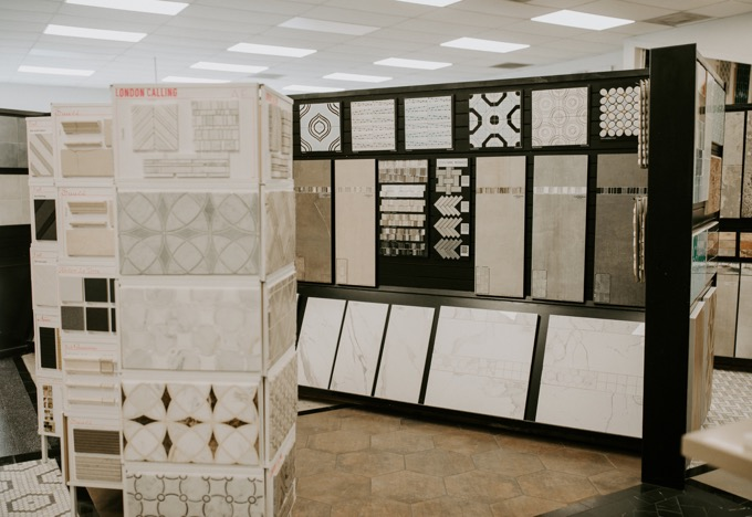 Ceramic Tile Center by popular SoCal life and style blog, Whiskey and Lace: image of tile samples at the Ceramic Tile Center.