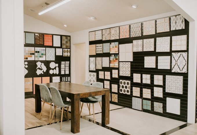 Ceramic Tile Center by popular SoCal life and style blog, Whiskey and Lace: image of a showroom in the Ceramic Tile Center.